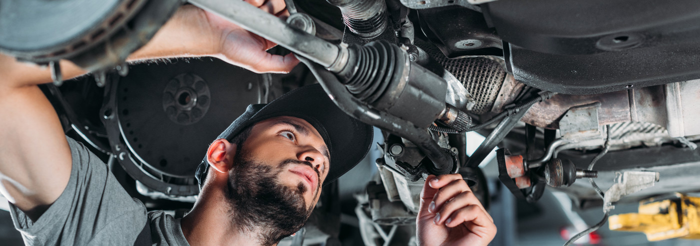 Mechanic working under a vehicle - Car Repairs Nottingham